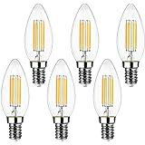 Ampoule Filament Bougie Vintage LED E14, EXTRASTAR 4W Ampoule LED Filament équivalent Incandescente 40W, E14 Ampoules Culot V