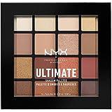 NYX Professional Makeup Ultimate Edit Petite Shadow Palette paleta 16 cieni do powiek o różnym wykończeniu, ciepłe neutralne