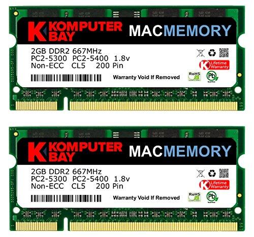 4GB (2x 2GB) 667MHz SODIMM Memoria per Apple
