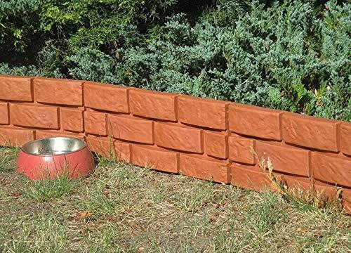 SKYSBIKE GMBH Palisade Rasenkante Beeteinfassung Garten Zäune Dekoration Kanteneinfassungen (SHD04-R)