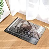cdhbh Motorräder Decor Motorräder in Rustikal House Bad Teppiche rutschhemmend Fußmatte Boden Eingänge Innen vorne Fußmatte Kinder Badematte 39,9x 59,9cm Badezimmer Zubehör
