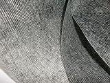 10 Meter, Vlieseline mit stabilisierenden Fäden, Bügelvlies, Bügeleinlage, 31 g/m, 90 cm breit, verstärkt mit Fäden, in anthrazit, einseitig haftend, für sehr leichte bis mittelschwere Stoffe, 10m
