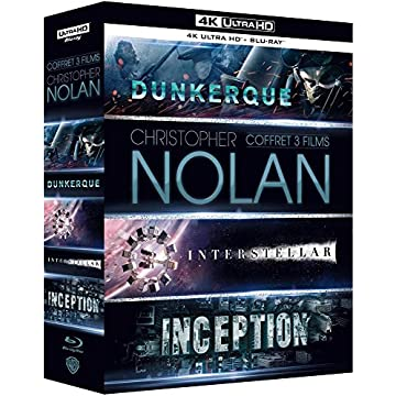 Coffret Christopher Nolan 3 Films : Dunkerque (Dunkirk) / Interstellar / Inception - Blu-Ray 4K + Blu-Ray [4K Ultra HD + Blu-ray + Digital HD]