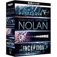 Coffret Christopher Nolan 3 Films : Dunkerque (Dunkirk) / Interstellar / Inception - Blu-Ray 4K + Blu-Ray
