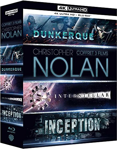 Preisvergleich Produktbild Coffret nolan 3 films : inception ; interstellar ; dunkerque 4k ultra hd [Blu-ray] [FR Import]