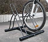 Fahrradhalter für 2 Fahrräder, Boden-Fahrradhalter, Stahl