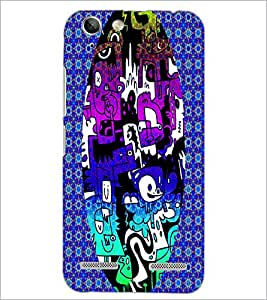 PrintDhaba Graffiti D-3950 Back Case Cover for LENOVO VIBE K5 (Multi-Coloured)