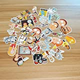 SHINE-CO Stickers 35Pcs Rick and Morty PVC Decals Waterproof Sunlight-Proof DIY Ideals for Cars, Motorbikes, Portable luggages, Laptops
