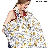 #10: Motherly Nursing Breastfeeding Cover Scarf Cloth- Breast Feeding shawl (Yellow Flower Print)