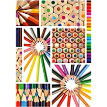 Carpeta (DIN A3), diseño de lápices de colores, multicolor