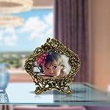 Handicrafts Paradise Antique Golden Floral Motif Aluminium Metal Photo Frame (24.2 cm x 1.2 cm x 24.2 cm)