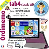 Tablette Senior ORDIMEMO TAB4 Pack WD 2 Go/32 Go 10,1' 1280x800 WiFi + CLE TV + (Coque+Stylet) / Noir
