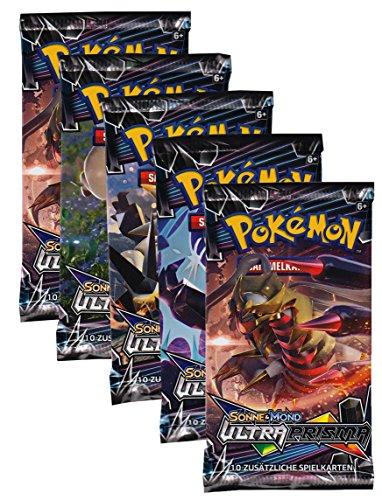 Sonne und Mond Serie 5 - Ultra-Prisma Booster Edition - Deutsch (5 Booster) - Pokemon Karten-packs 5