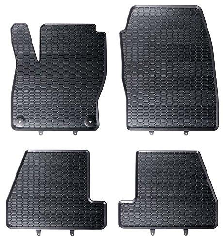 AME Prime - Auto-Gummimatten Fußmatten Im Wabendesign, Anti-Rutsch-Oberfläche, Geruch-vermindert und passgenau inklusiv Befestigungen 853/4C