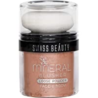 Swiss Beauty Blusher Loose Powder, Face MakeUp, Bronze, 12g