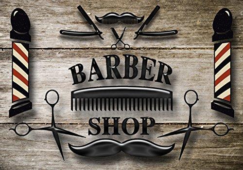 Barber Shop 863 - Placa metálica, diseño de barbería clásica (estilo moderno, barbería)