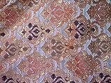 Baumwoll-Brokat indischer Stoff Brokat Banarasi Hochzeit Kleid Material Home Decor Kissenbezug