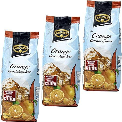 Krüger Orange Getränkepulver automatengeeignet 3 x 1kg