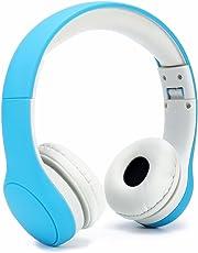 Getlink Kinder Kopfhörer regulierbar Leichtkopfhörer mit Lautstärkebegrenzung und Musik-Share-Port - für Jungen Mädchen 3-8 Jahren Blau