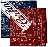 Carhartt Halstuch Doppelpack, Farbe:rot/marine