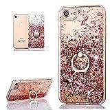 (Nicht für 6/6S) Hancda Flüssig Handyhülle für iPhone 6 Plus / iPhone 6S Plus Hülle Schutzhülle Case Glitzer Flüssig Durchsic