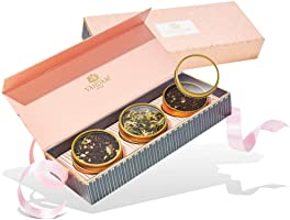 VAHDAM, Confezione regalo per tè assortiti - BLUSH - 3 tè Confezione regalo per campionatore di tè | Ingredienti...