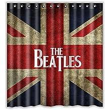 the Beatles drapeau Rideau de douche imperméable rideau de douche en tissu de Polyester-Dimensions :  168 X 183 cm