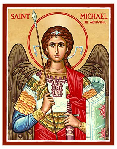 Kloster Ikonen Sankt Michael der Erzengel (Military Style) montiert Plaque Icon Reproduktion 11