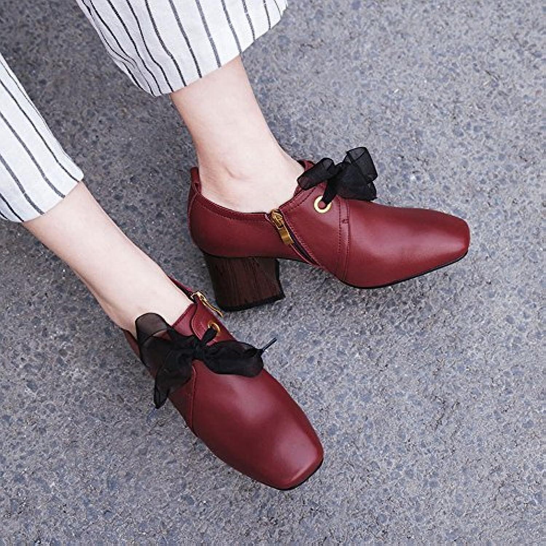 CXY Zapatos de Mujer de Primavera Pequeños Zapatos Frescos de Tacón Alto Zapatos de Mujer Europeos de Estación...