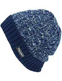 Thinsulate Cable Knit Marl Beanie Hat with Turn-up