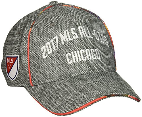 adidas MLS All Star Adult Men MLS All Star Dueling Structured Adjustable Hat, One Size, Black -