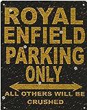 20,3x 25,4cm Royal Enfield Panneau Stationnement style rustique 20,3x 25,4cm voiture Abri de jardin en métal 20x 25cm garage atelier art mural