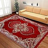 #4: iLiv enterprises Ethnic Velvet Touch Abstract Chenille Carpet - 54