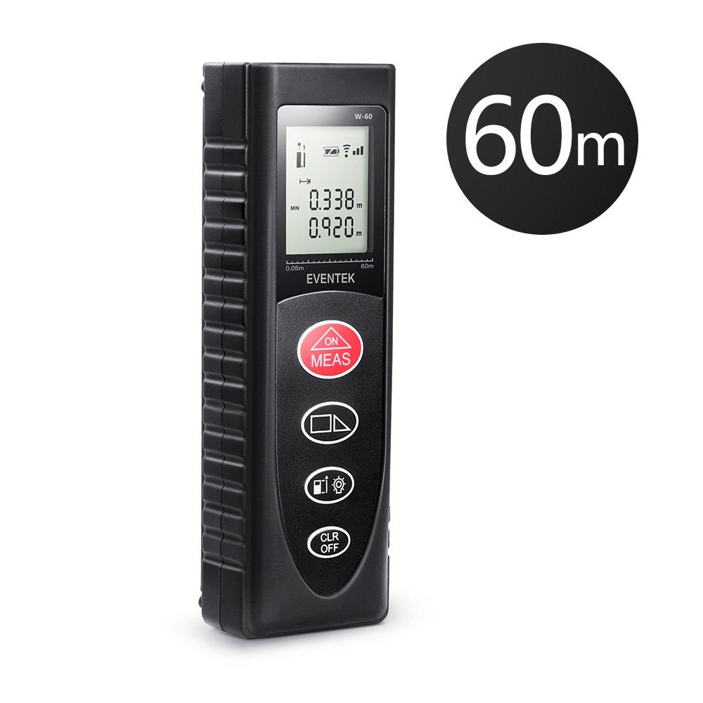 Eventek 0,05~60m Laser Entfernungsmesser Automatische Messung ...