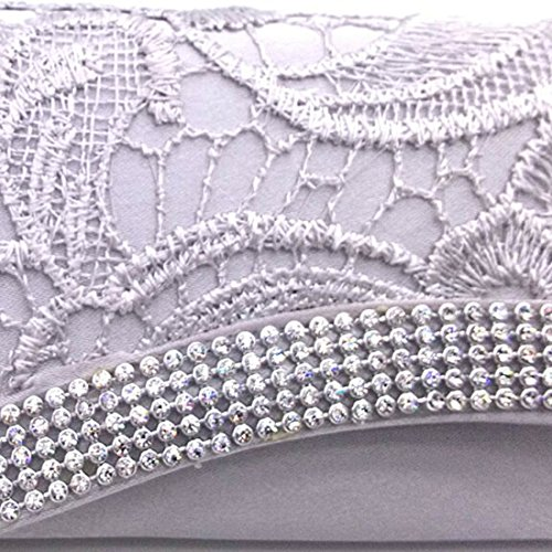 HT  Ladies Handbag Purse, Portafogli  Donna White