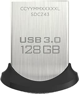 Clé USB 3.0 Sandisk Ultra Fit 128Go Allant jusqu'à 150Mo/s
