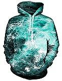 Fanient Teens Jungen Sportwear Sweatshirts Langarm-Kapuzenshirt Taschen Fleece Plüschfutter