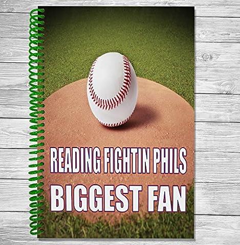 lecture Phils de Reading Biggest Fan–A5Baseball ordinateur portable/bloc-notes/bloc de