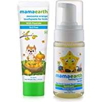 Mamaearth Natural Toothpaste, Orange Flavour, Sls Free, With 750 Ppm Fluoride, 4+ Years, Plant Based&Mamaearth Foaming…
