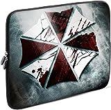 Sidorenko Laptop Tasche für 17 - 17,3 Zoll | Universal Notebooktasche Schutzhülle | Laptoptasche aus Neopren, PC Computer Hülle Sleeve Case Etui, Grau
