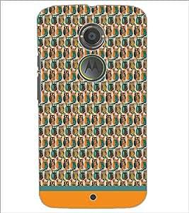 PrintDhaba Owl Pattern D-1681 Back Case Cover for MOTOROLA MOTO X2 (Multi-Coloured)
