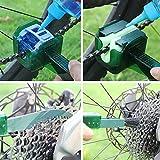 ATUCCO Bicicletta Pulita della Catena Multi corredo di Attrezzi Catena rondella volano Hook Cassette Brush Scrubber la Bici del Motociclo per Pulizia in RR7004, Verde