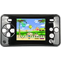 QINGSHE QS4 Handheld Game Console for Kids,182 Classic Games Built in 2.5 Inch Screen Portable Travel Game Console,Retro Arcade Games TV Output Video Game Player,Best Birthday Gift for Children-Black