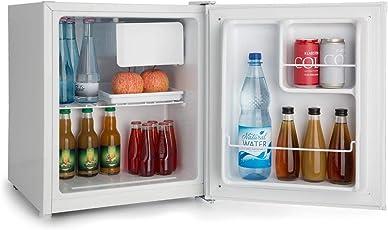 Klarstein Snoopy Eco • Mini-Kühlschrank mit Gefrierfach • 46 Liter Fassungsvermögen • 4 Liter Gefrierfach • 41dB leise • stromsparend • weiß