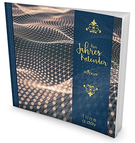 GOCKLER® 3 Jahres Kalender: 190+ Seiten Journal für 3 Jahre    Glänzendes Softcover    Ideal als Tagebuch, Terminplaner, Notizkalender oder Tagesplaner    DesignArt.: Molekular