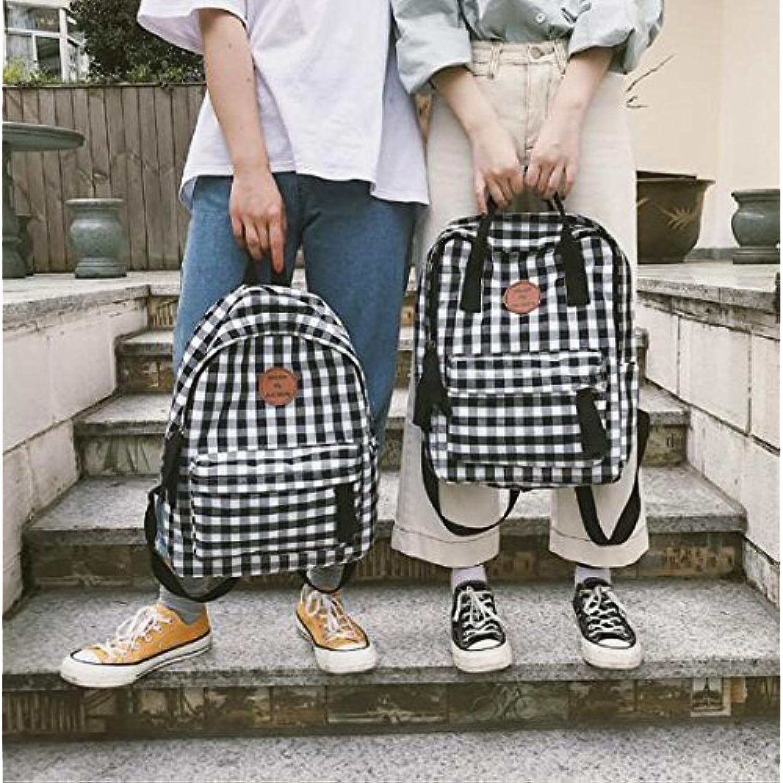 7ad2acbb7f Yuloen Porter Le Confort Sac à Dos à à à Motif  écossais de Cartable d'écolier Moyen de Mode | Outlet Store  Online ...