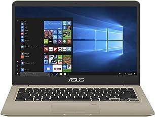 ASUS VivoBook S14 S410UN (90NB0GT1-M05180) 35,5 cm (14 Zoll, Full-HD, Matt) Laptop (Intel Core i5-8250U, 8GB RAM, 256GB SSD, NVIDIA MX150 (2GB), Windows 10) Gold Metall