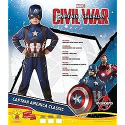 Marvel I-620678 Traje clásico de niños Guerra civil, S (3-4 años)