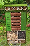 Insect Hotel Front Green, Weatherproof, 48-Inch...