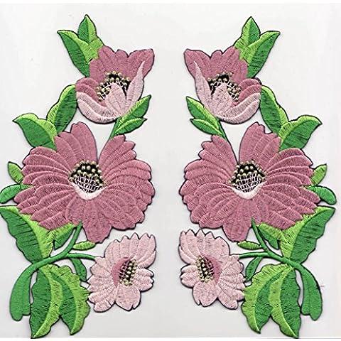 Toppe toppa patch termoadesive fiore fiori termoadesivi termoadesiva applicazioni ricamate ricamato adesiva da cucire per stoffa jeans cucito